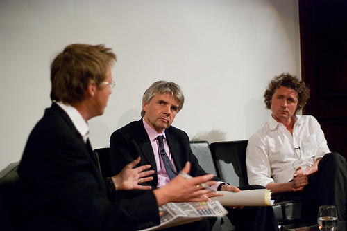 Simon Mayo chairs the debate between Lord Drayson and Dr Ben Goldacre at the RI