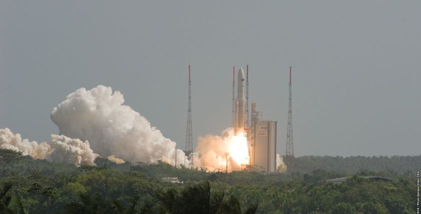 Herschel and Planck launch on board an Ariane 5