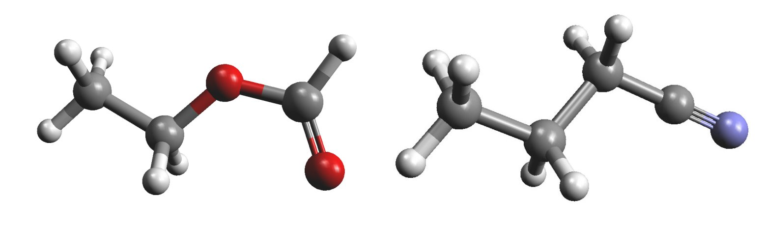 Ethyl formate and n-propyl cyanide